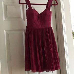 Bebe red mini cocktail dress
